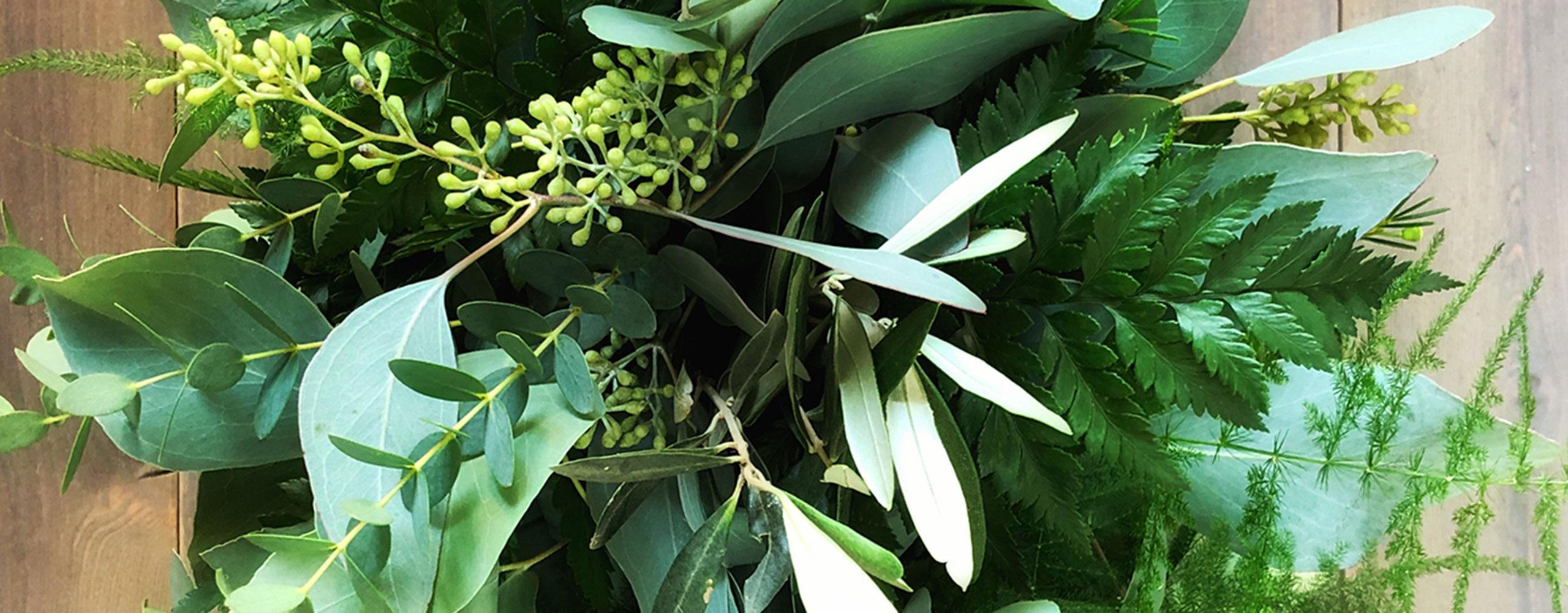 Brautstrauss gruen 'greenery-style' - Kerstin Adrian Floristin