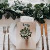 Dekoration Hochzeit Tisch 'Greenery-Style' Eucalyptusgirlande - Kerstin Adrian Floristin