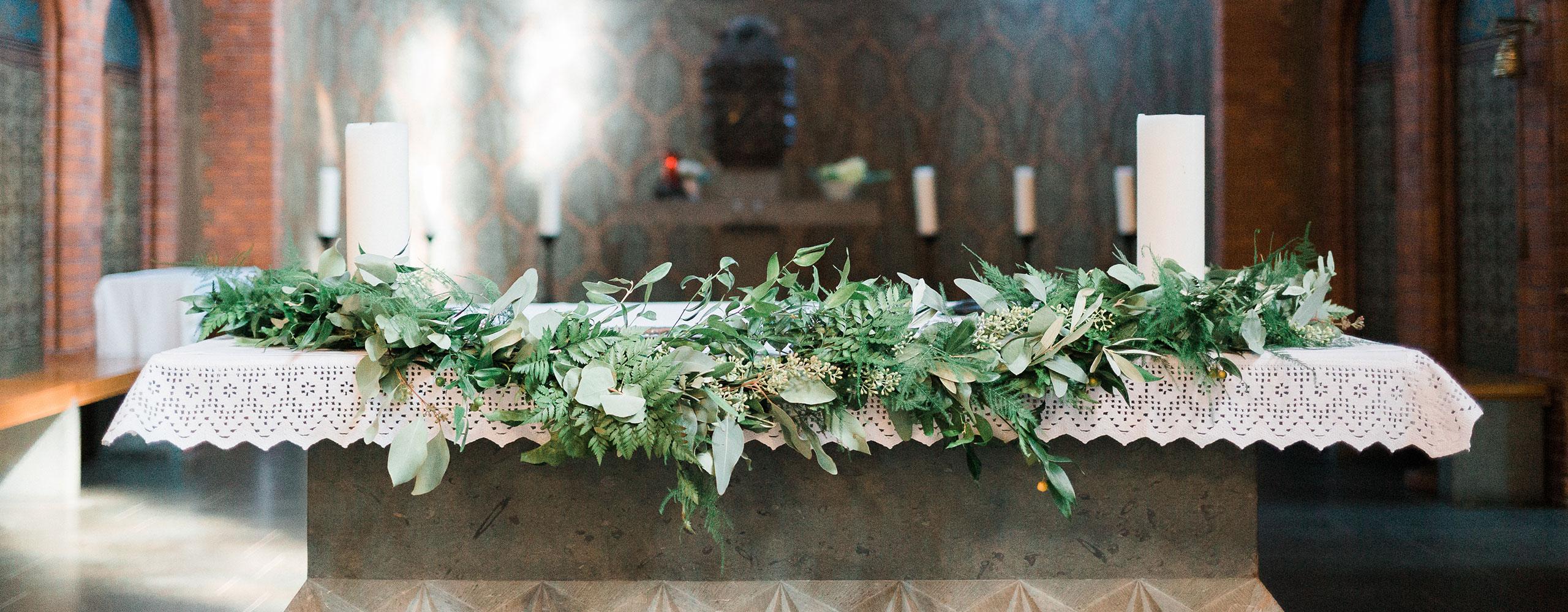 Altargirlande Greenery-Style - Kerstin Adrian