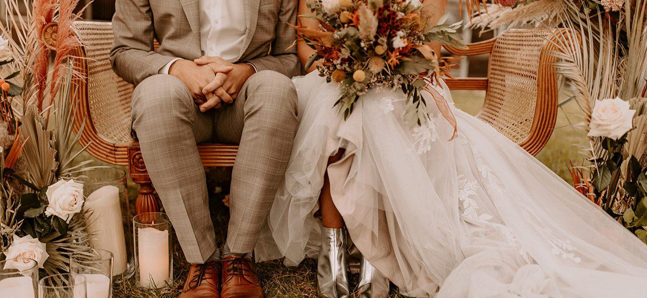 Brautstrauß Boho-Style für Outdoor-Zeremonie von Kerstin Adrian